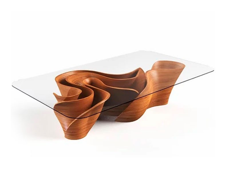 Banzeiro Dining Table base in Wood