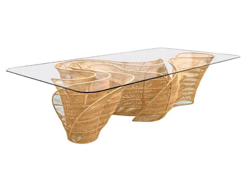 Banzeiro Table base in Cord